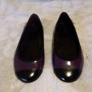 Hunter Rain shoes Purple & Black Size 6
